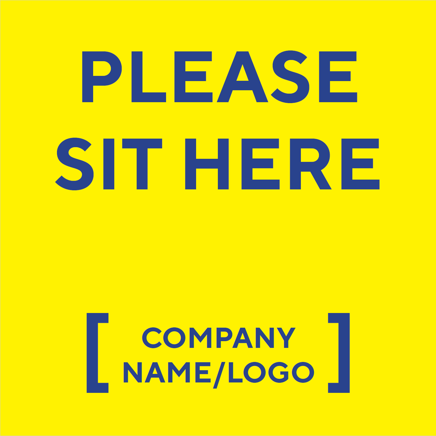 Madison Avenue, Inc. Please Sit Here Table Decal