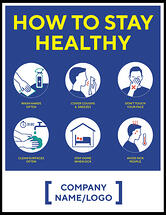 Madison Avenue, Inc. How To Stay Healthy Wall or Window Decal