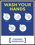 Madison Avenue, Inc. Wash Your Hands Mirror Decal (large)
