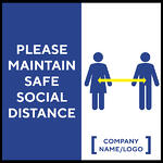 Madison Avenue, Inc. Please Maintain Safe Social Distance Wall Decal