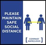 Madison Avenue, Inc. Please Maintain Safe Social Distance Table Decal