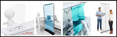 Madison Avenue, Inc. Acrylic Counter Sheilds in Various sizes