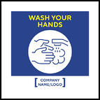 Madison Avenue, Inc. Wash Your Hands Mirror Decal (small)