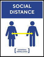 Madison Avenue, Inc. Social Distance Wall Decal